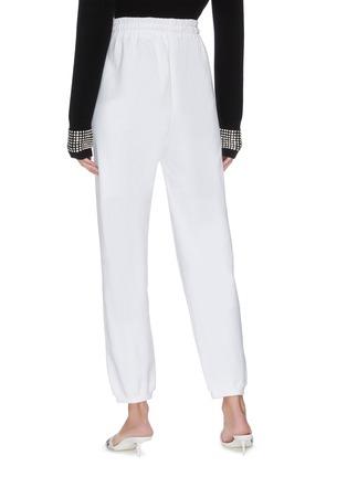 Back View - Click To Enlarge - ALEXANDER WANG - x Lane Crawford 'Bling' logo embellished unisex jogging pants