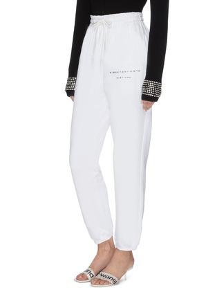 Front View - Click To Enlarge - ALEXANDER WANG - x Lane Crawford 'Bling' logo embellished unisex jogging pants