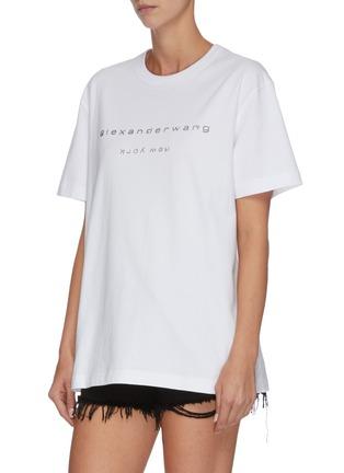 Front View - Click To Enlarge - ALEXANDER WANG - x Lane Crawford logo embellished unisex T-shirt