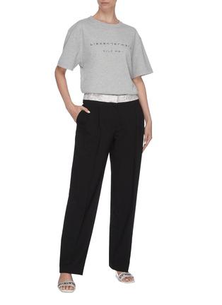 Detail View - Click To Enlarge - ALEXANDER WANG - x Lane Crawford logo embellished unisex T-shirt