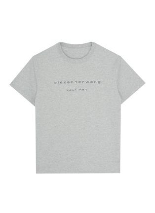 Main View - Click To Enlarge - ALEXANDER WANG - x Lane Crawford logo embellished unisex T-shirt
