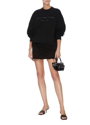 Detail View - Click To Enlarge - ALEXANDER WANG - x Lane Crawford logo embellished unisex sweatshirt