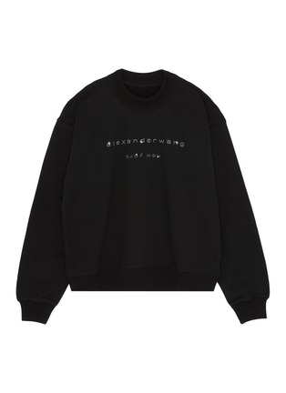 Main View - Click To Enlarge - ALEXANDER WANG - x Lane Crawford logo embellished unisex sweatshirt