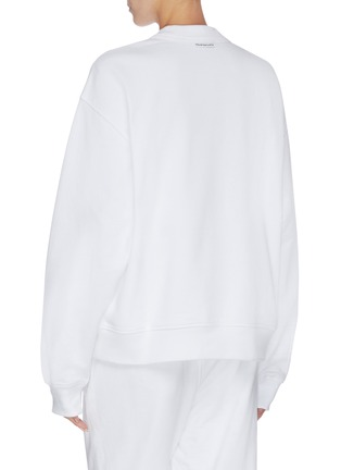 Back View - Click To Enlarge - ALEXANDER WANG - x Lane Crawford logo embellished unisex sweatshirt