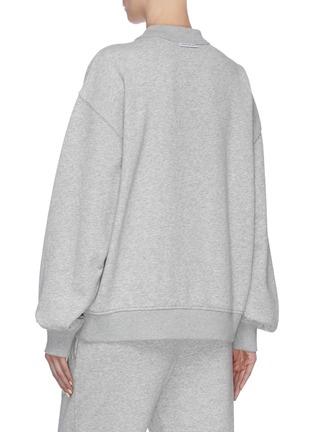 Back View - Click To Enlarge - ALEXANDER WANG - x Lane Crawford logo embellished unisex sweatshirt