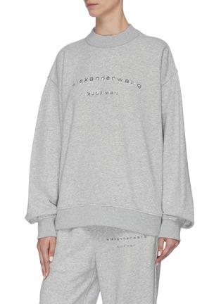 Front View - Click To Enlarge - ALEXANDER WANG - x Lane Crawford logo embellished unisex sweatshirt