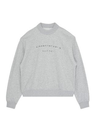 Main View - Click To Enlarge - ALEXANDER WANG - x Lane Crawford logo embellished unisex sweatshirt