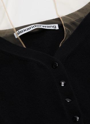 - ALEXANDER WANG - x Lane Crawford 'Crystal Cuff' sheer panel cardigan