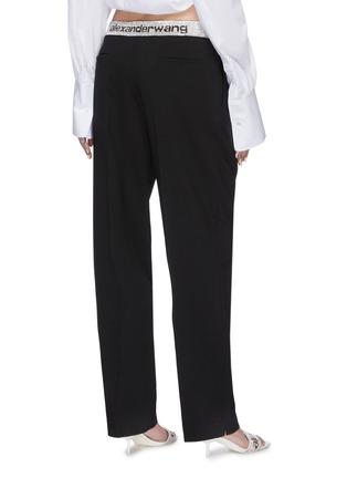 Back View - Click To Enlarge - ALEXANDER WANG - x Lane Crawford logo contrast waistband jogging pants
