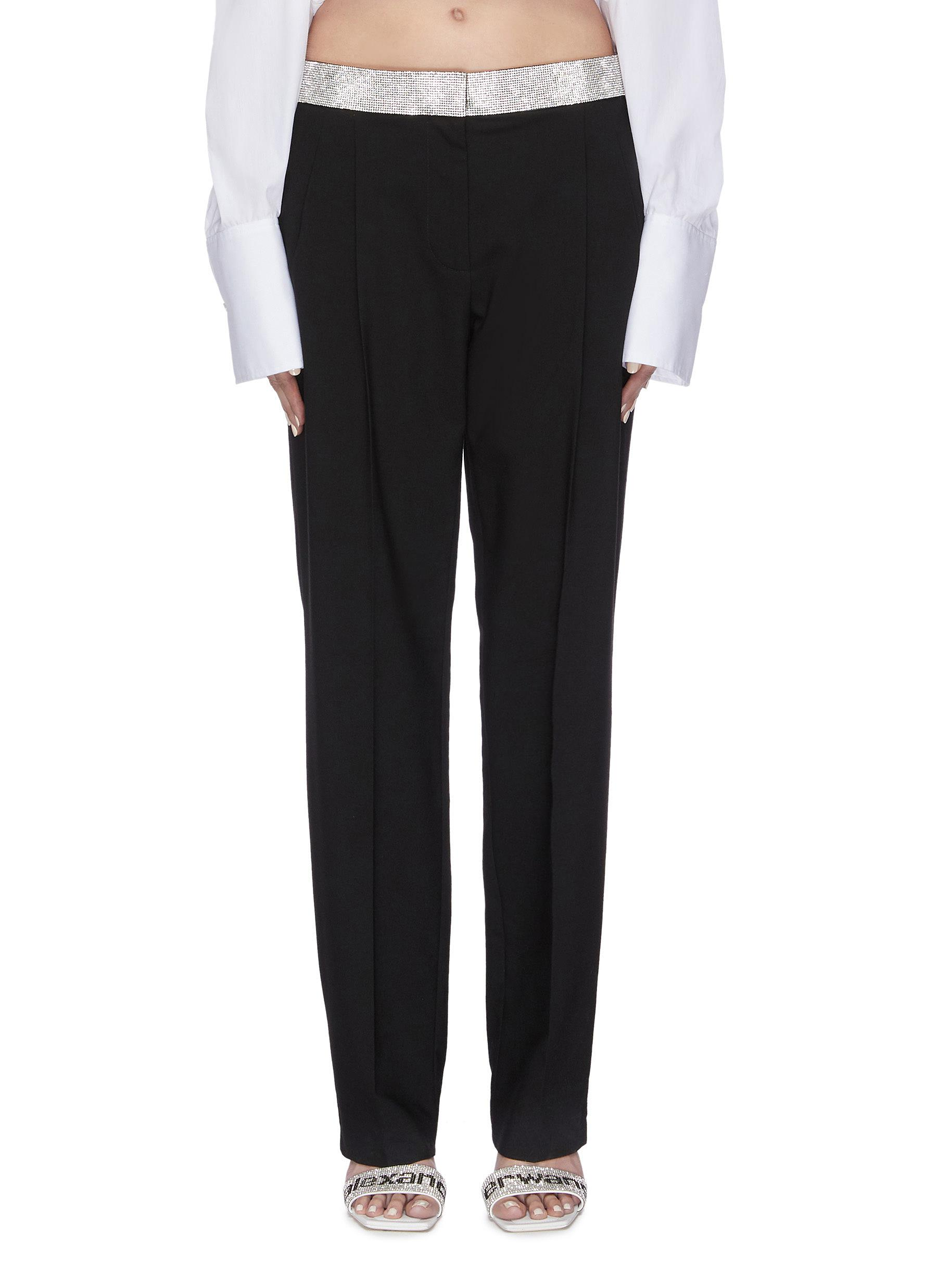 shop Alexander Wang x Lane Crawford logo contrast waistband jogging pants online