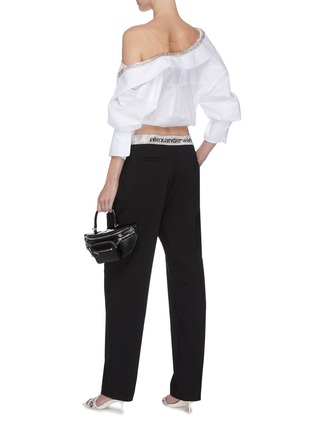 Figure View - Click To Enlarge - ALEXANDER WANG - x Lane Crawford logo contrast waistband jogging pants