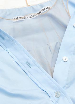 - ALEXANDER WANG - x Lane Crawford sheer panel shirt