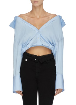 Main View - Click To Enlarge - ALEXANDER WANG - x Lane Crawford sheer panel shirt