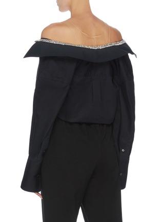 Back View - Click To Enlarge - ALEXANDER WANG - x Lane Crawford sheer panel shirt