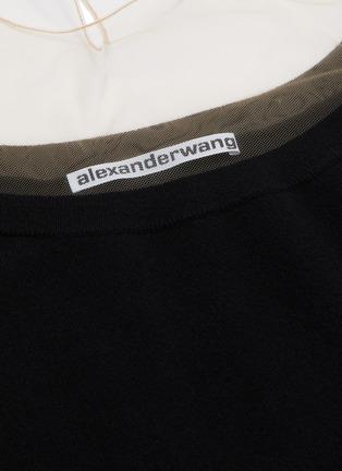 - ALEXANDER WANG - x Lane Crawford 'Crystal Cuff' off-shoulder knit top