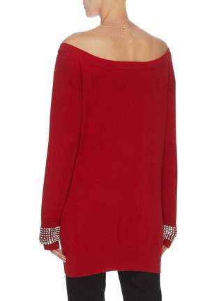 Back View - Click To Enlarge - ALEXANDER WANG - x Lane Crawford 'Crystal Cuff' off-shoulder knit top