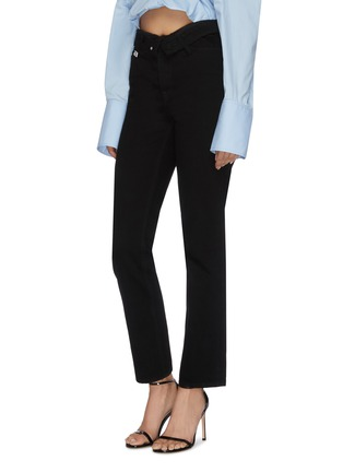 Front View - Click To Enlarge - ALEXANDER WANG - x Lane Crawford flip waist jeans