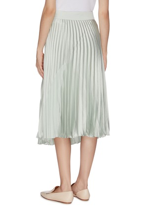 Back View - Click To Enlarge - VINCE - Pleated midi skirt