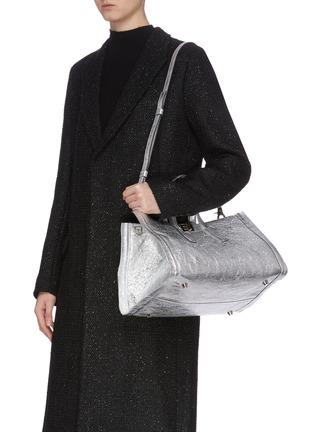Back View - Click To Enlarge - CHARLOTT VASBERG  - 'Night Prowler' metallic leather tote bag