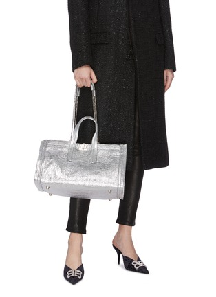 Front View - Click To Enlarge - CHARLOTT VASBERG  - 'Night Prowler' metallic leather tote bag