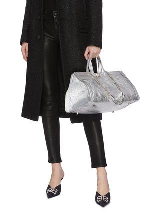 Figure View - Click To Enlarge - CHARLOTT VASBERG  - 'Night Prowler' metallic leather tote bag