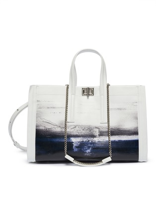 Main View - Click To Enlarge - CHARLOTT VASBERG  - 'Night Prowler' abstract print patent leather tote bag