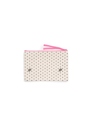 Main View - Click To Enlarge - BONTON - Star print contrast zipper pouch