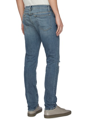 Back View - Click To Enlarge - FRAME DENIM - 'L'Homme' distressed acid wash skinny jeans