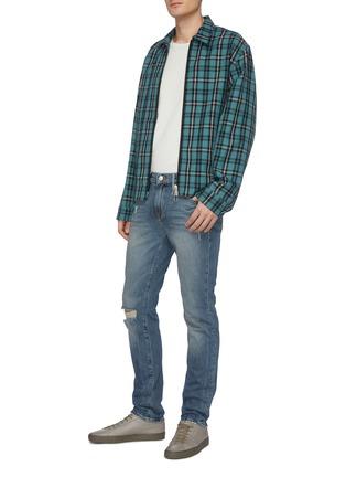 Figure View - Click To Enlarge - FRAME DENIM - 'L'Homme' distressed acid wash skinny jeans