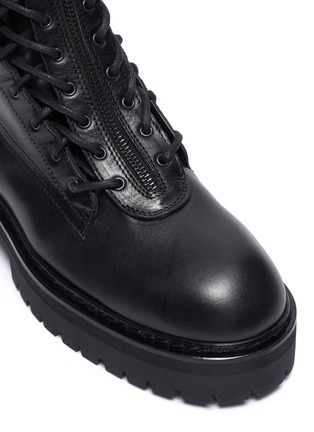 Detail View - Click To Enlarge - ANN DEMEULEMEESTER - Leather combat boots