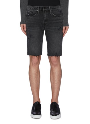 Main View - Click To Enlarge - FRAME DENIM - 'L'Homme' Distress Demin Shorts