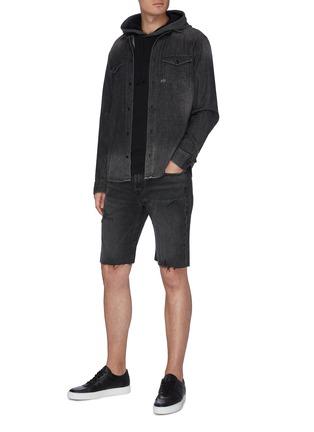 Figure View - Click To Enlarge - FRAME DENIM - 'L'Homme' Distress Demin Shorts