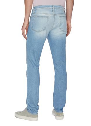 Back View - Click To Enlarge - FRAME DENIM - 'L'Homme' Distress Skinny Jeans