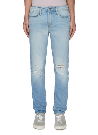 Main View - Click To Enlarge - FRAME DENIM - 'L'Homme' Distress Skinny Jeans