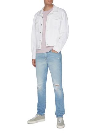 Figure View - Click To Enlarge - FRAME DENIM - 'L'Homme' Distress Skinny Jeans