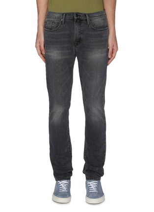 Main View - Click To Enlarge - FRAME DENIM - 'L'Homme' Heavy Wash Skinny Jeans