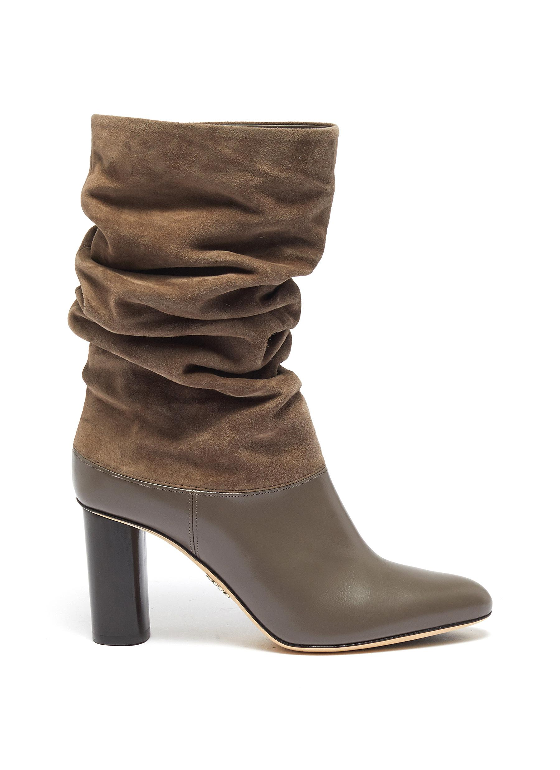 Slouchy suede leather boots by Rodo