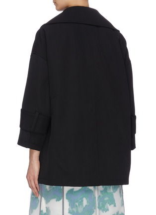 Back View - Click To Enlarge - 3.1 PHILLIP LIM - Detachable collar gabardine jacket