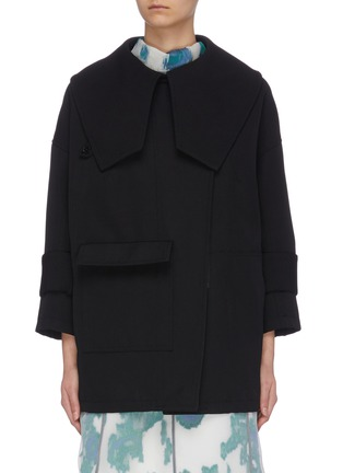 Main View - Click To Enlarge - 3.1 PHILLIP LIM - Detachable collar gabardine jacket