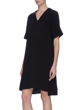 Detail View - Click To Enlarge - 3.1 PHILLIP LIM - Removable scarf crepe cady dress