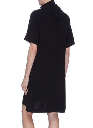 Back View - Click To Enlarge - 3.1 PHILLIP LIM - Removable scarf crepe cady dress