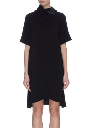 Main View - Click To Enlarge - 3.1 PHILLIP LIM - Removable scarf crepe cady dress