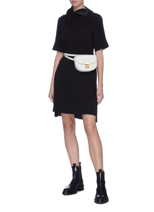 Figure View - Click To Enlarge - 3.1 PHILLIP LIM - Removable scarf crepe cady dress