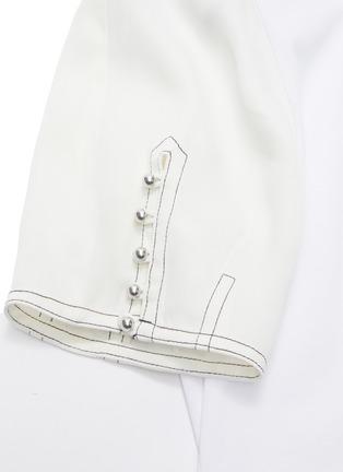 - 3.1 PHILLIP LIM - Button sleeve panelled peplum top