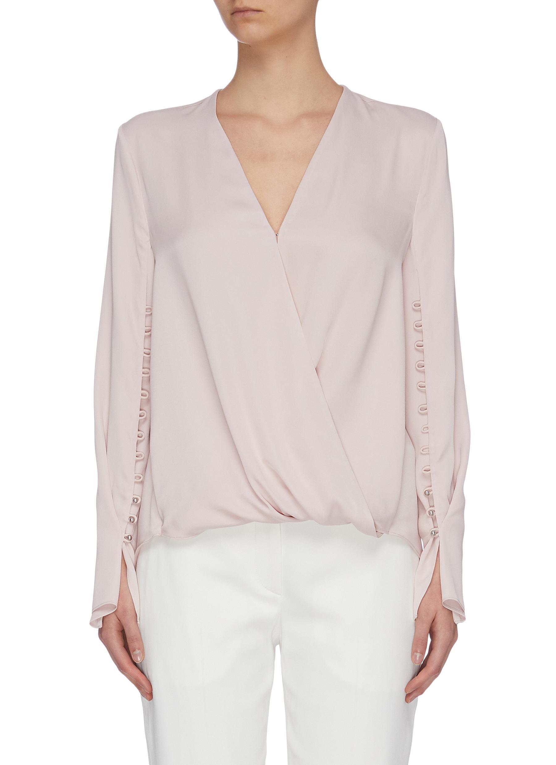 shop 3.1 Phillip Lim Mock wrap satin blouse online