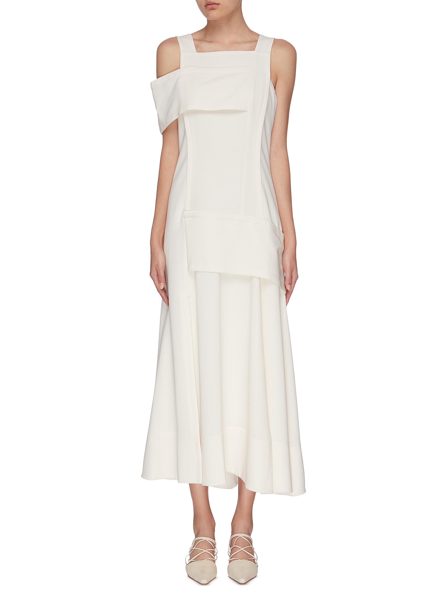 Buy 3.1 Phillip Lim Dresses Asymmetric cold shoulder crepe dress