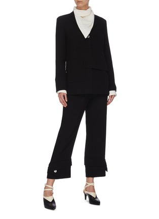 Figure View - Click To Enlarge - 3.1 PHILLIP LIM - Button cuff flared tailor pants