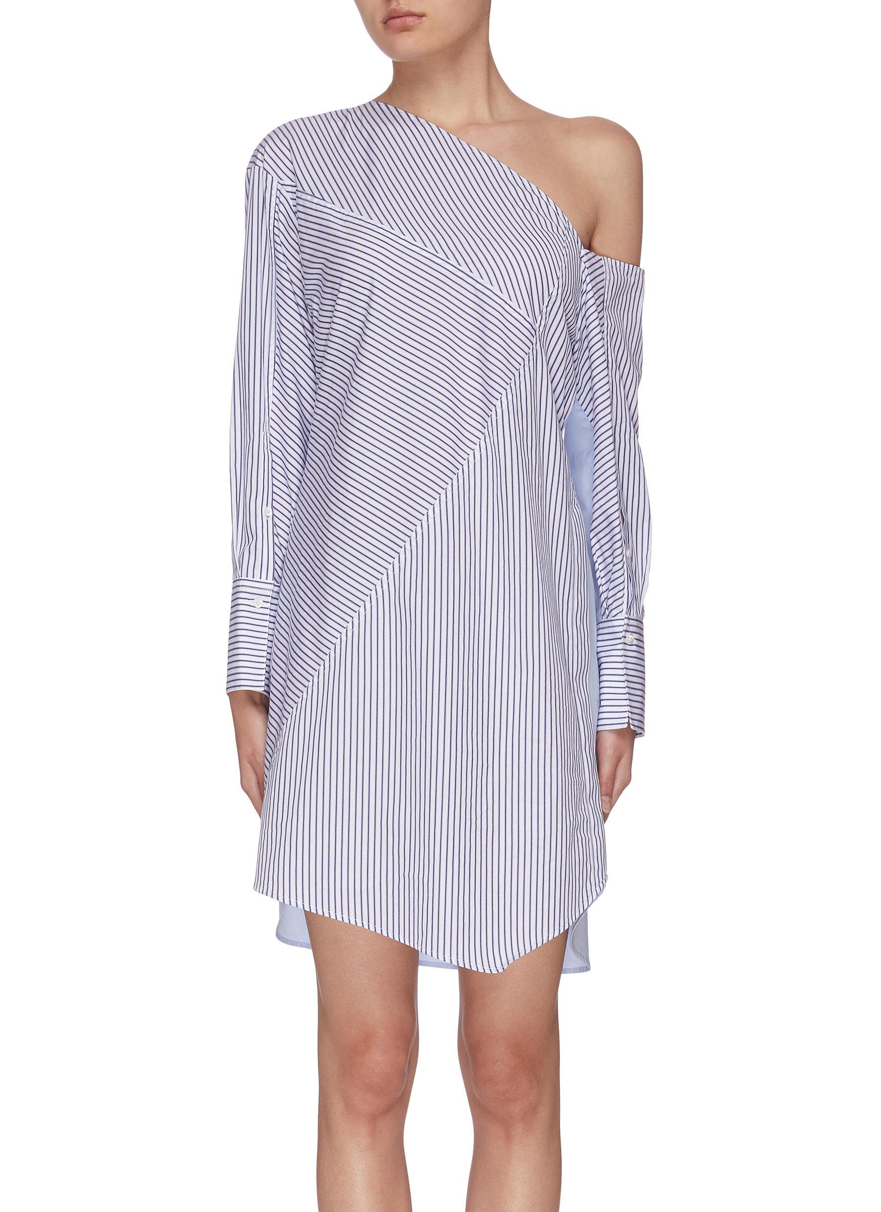 shop 3.1 Phillip Lim Contrast panel stripe one should shirt dress online