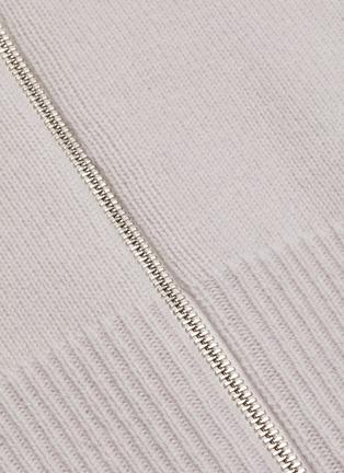 - 3.1 PHILLIP LIM - Panelled rib knit zip-up cardigan