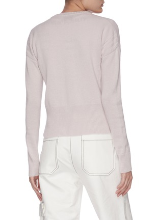 Back View - Click To Enlarge - 3.1 PHILLIP LIM - Panelled rib knit zip-up cardigan